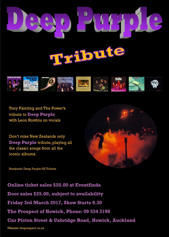 Deep Purple Poster A4