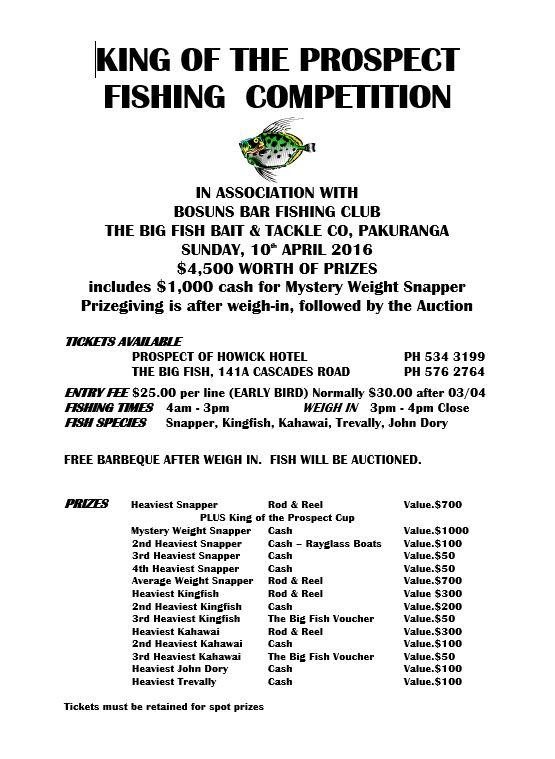 Fishing Comp 2016