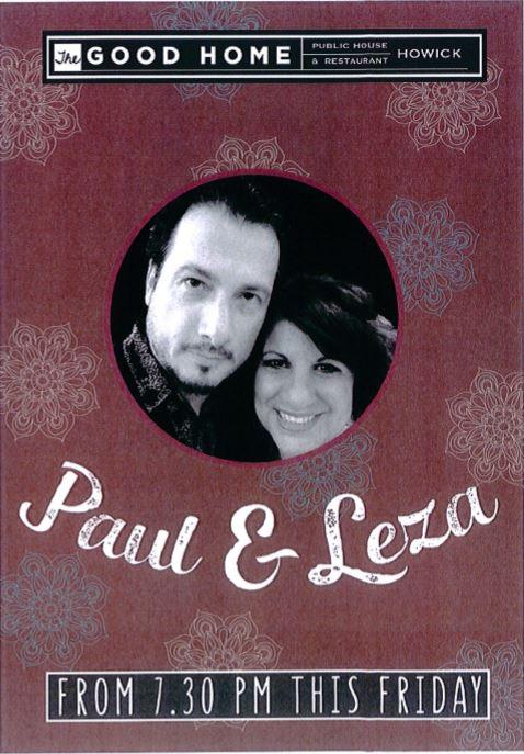 Paul & Leza Live Music Friday nights 2016