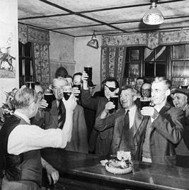 drinking in the old days in howick